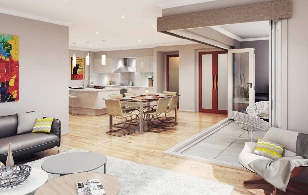 3D Living & Dining | McDonald Jones Builders